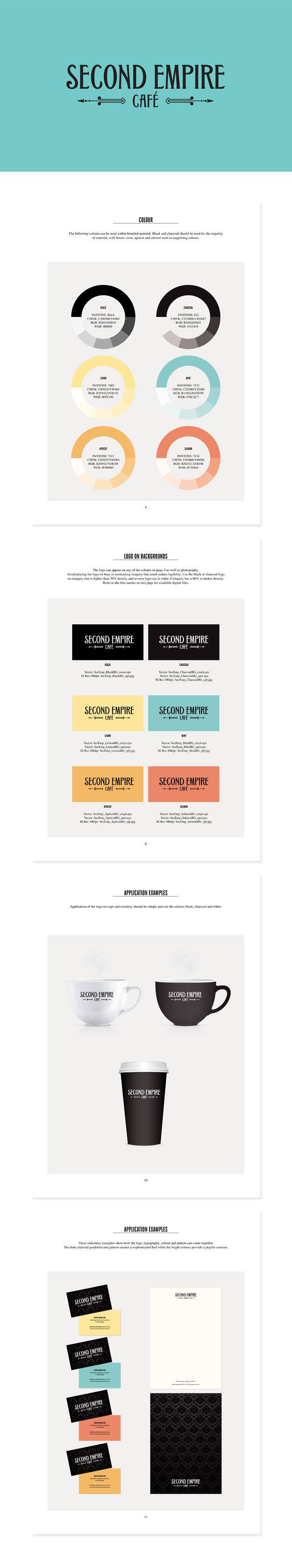 Branding for Second Empire Cafe situated within the new Hawthorn Arts Centre. www.fenton.com.au #communication #PR #branding #graphicdesign