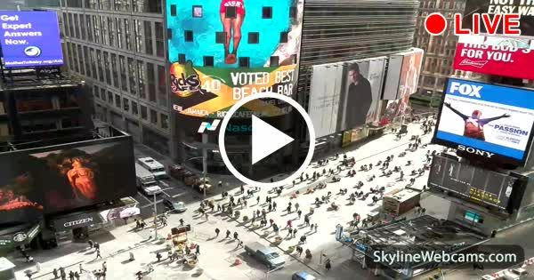Great view from #TimesSquare! Come with us to #NewYork, visit it live now!