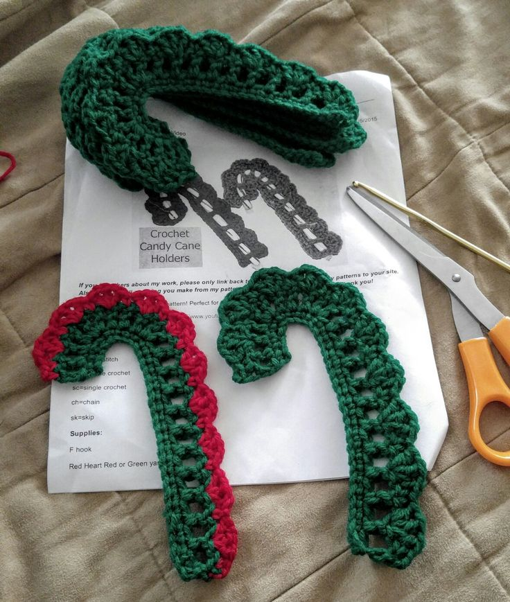 Crochet candy cane holder                                                                                                                                                                                 More