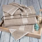 Rio Egyptian Cotton Towel Set in Taupe (Brown) (8-Piece)
