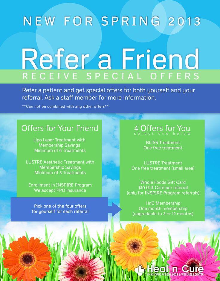 Refer a Friend Spring Time Promotion #ryan #siu #ryansiu #siurious #healncure