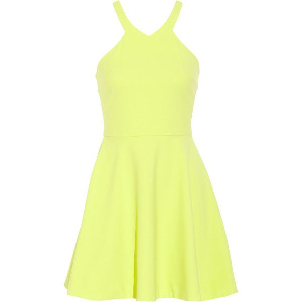 Elizabeth and James Sonya cady mini dress ($110) ❤ liked on Polyvore featuring dresses, vestidos, chartreuse, chartreuse dress, loose fitting mini dress, yellow fitted dress, loose fitting dresses and short yellow dress