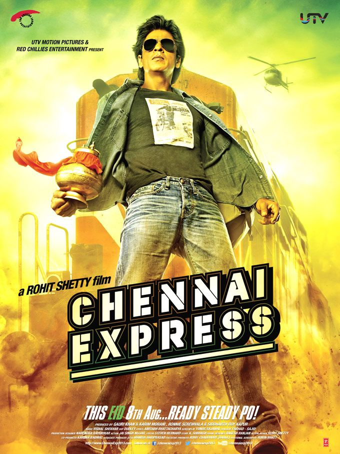 Shah Rukh Khan in 'Chennai Express' poster 3 #Bollywood
