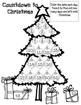 If your students are like mine their brains are on when the big man in the red suit will arrive.  This is a page that they can color each day to see how many days are left until Christmas.  I hope you love this freebie.  I am new to TPT and appreciate feedback.