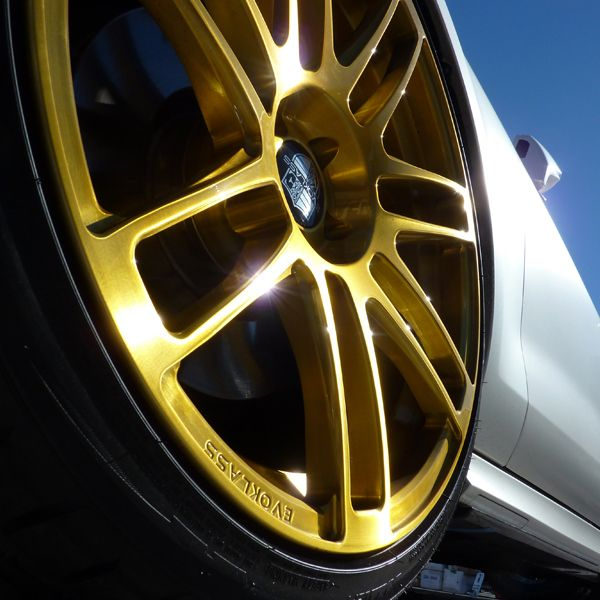 Transparent Gold powder coated wheel from Prismatic ...