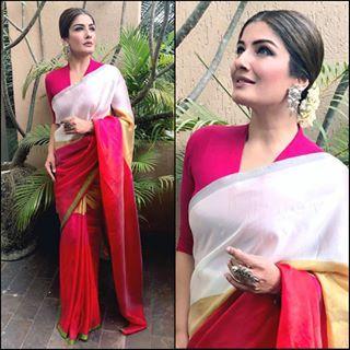 @OfficialRaveenaTandon In @PayalKhandwala Saree & @LaraMOfficial Jewellery for #Vishu Celebration at #BuntsSangha Mumbai. Styled By @SurinaKakkar #OOTD #RaveenaTandon #PayalKhandwala #LaraM #BollywoodActress #Bollywood #IndianFashion #Saree #CelebrityStyle #Traditional #Glam #Beauty Love #InstaFashion #BollyFashionFiesta