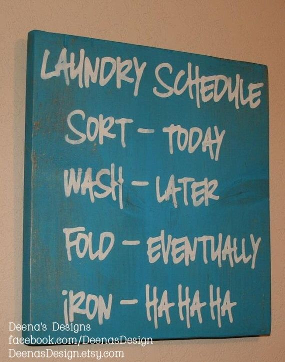 Laundry Schedule, Laundry Room Decor, Laundry Room Sign, Custom Wood Sign, Laundry Room, Laundry Room Schedule, Laundry Humor - Iron HaHaHa by DeenasDesign on Etsy https://www.etsy.com/listing/103059421/laundry-schedule-laundry-room-decor