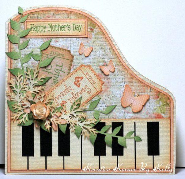 Поздравлением, скрапбукинг открытка для учителя музыки
