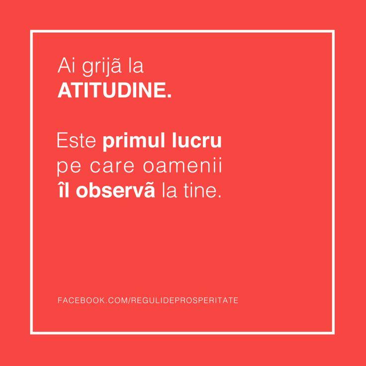 Atitudinea este acel detaliu care face diferenta !!