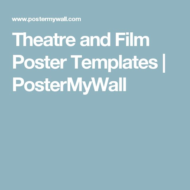 Theatre and Film Poster Templates | PosterMyWall | Field ...