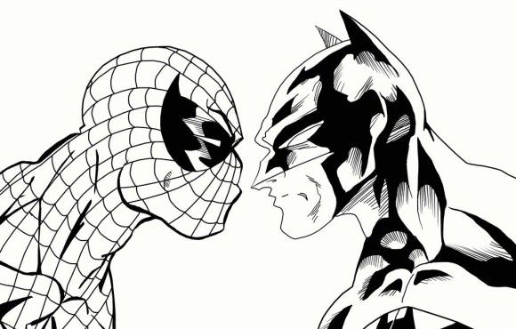 coloring pages spiderman easy symbol - photo#16
