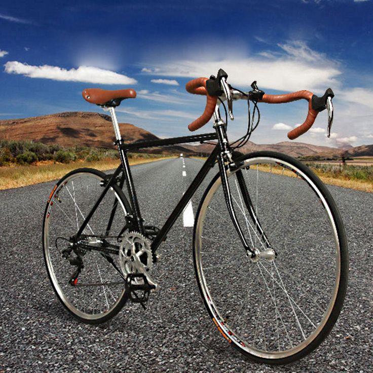 14S Outdoor 21 Speed Road Bike Bend Handbar 15cm 700cc Tire High Carbon Steel Road Bike
