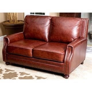 Check out the Abbyson Living SK-8040-CST-2 Bel Air Hand-Rubbed Leather Loveseat priced at $1,017.09 at Homeclick.com.