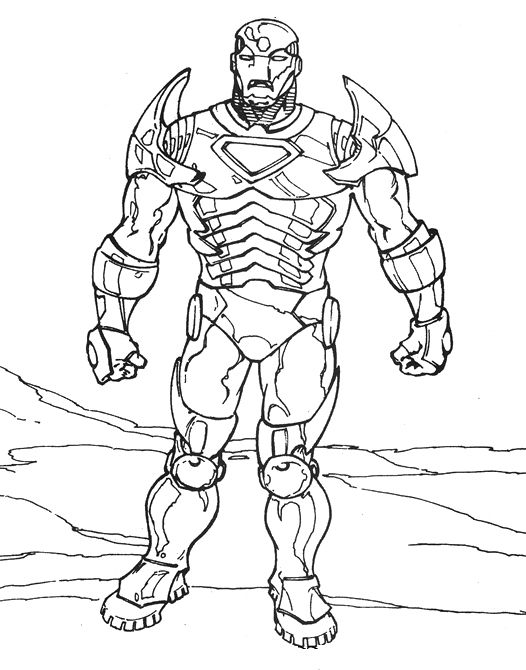 Best Iron Man Coloring Page