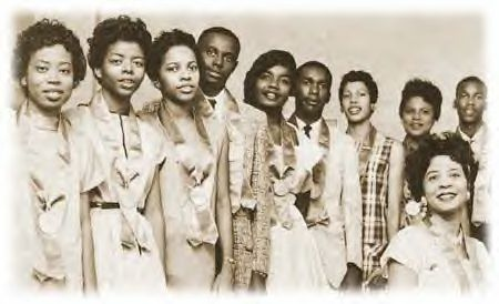 Little Rock Nine Students and Mrs. Daisy Bates at the height of the school desegration battles during 1957. by Pan-African News Wire File Photos, via Flickr