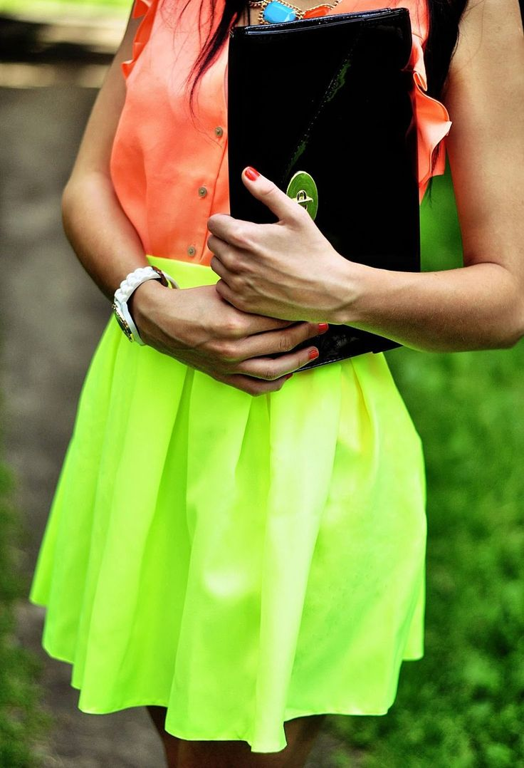 All neon everything- for when you don't want to give your eyes a reprieve, not even for a second.