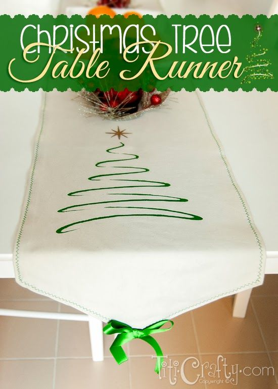 My mom loves table runners, so I made this christmas tree table runner as a gift. Come and check out the full tutorial on how to make it