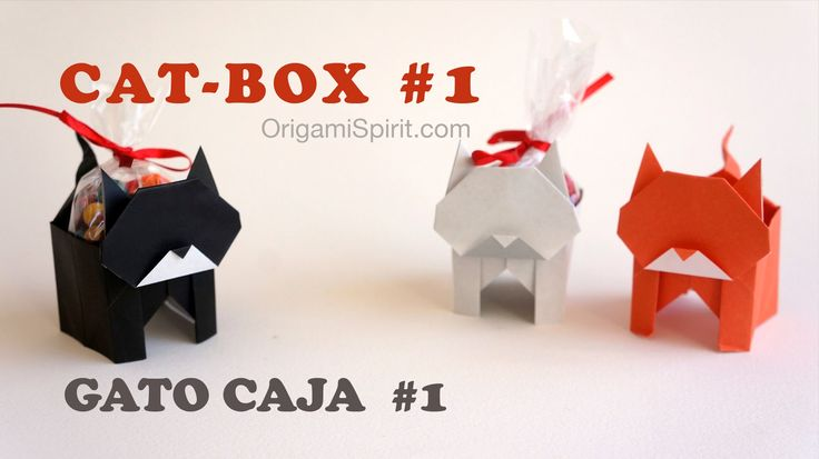 Origami Cat-Box #1 :: Gato Caja. You have to watch this tutorial and subscribe to Leyla's channel!!