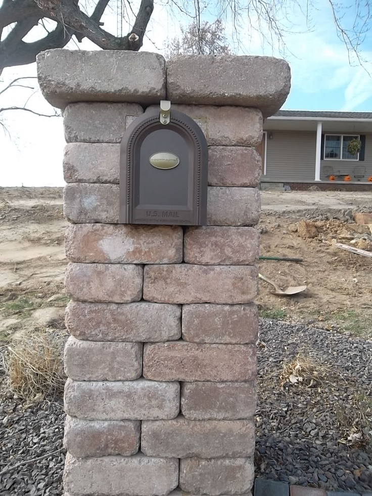 Stone Mailbox Post Designs Woodworking Projects Amp Plans