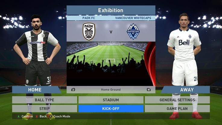 Paok FC vs Vancouver Whitecaps, Toumba Stadium, PES 2016, PRO EVOLUTION SOCCER 2016, Konami, PC GAMEPLAY, PCGAMEPLAY