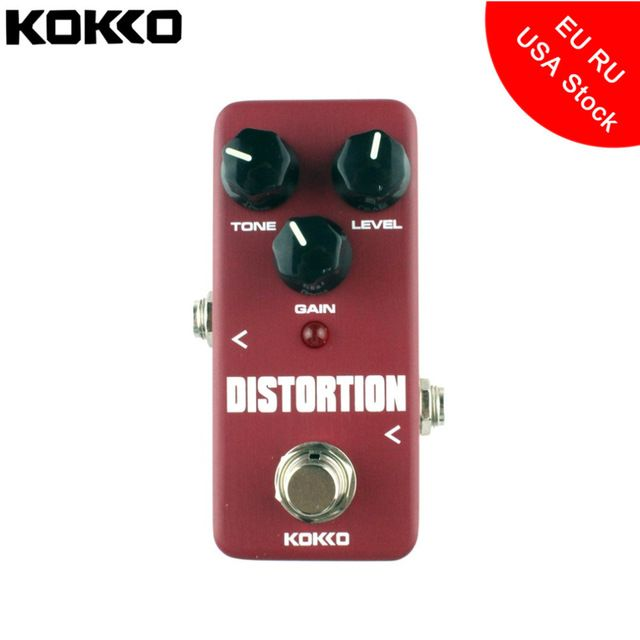 KOKKO FDS2 Mini Aluminum Alloy Distortion Pedal Portable Electric Bass Guitar Ukulele Effect Pedal Guitar Parts & Accessories #pickupjazz #resonatorguitar #originalcomposition #blues #warwickbass #framusguitar #bass #guitar #sound #strings #acoustic