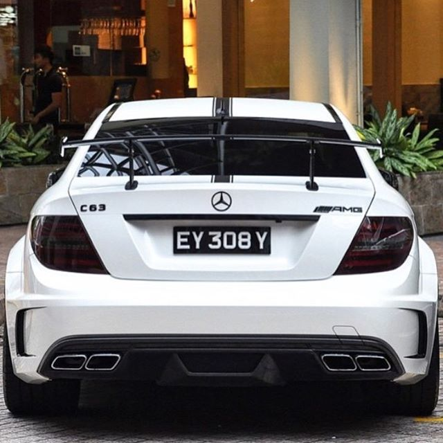 PHAT. #Mercedes C63 AMG Black Series The C63 is the smallest rear-drive coupe. @diamondcityphotos #cars