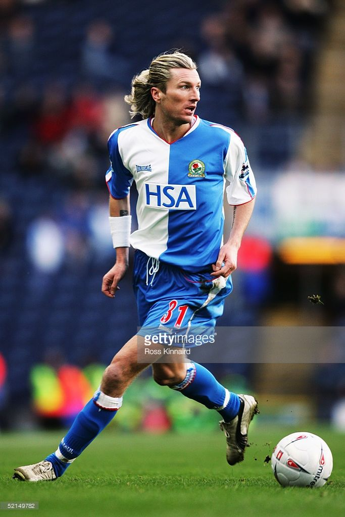 Robbie Savage of Blackburn Rovers in action during the FA Cup forth round tie between Blackburn Rovers and Colchester United at Ewood Park, on January 29, 2005 in Blackburn, England.