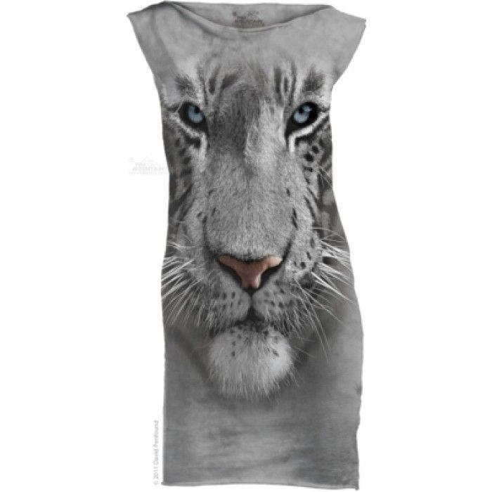Mini Dress Dama 3D – Mini Dress White Tiger Face