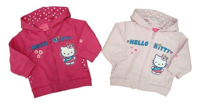 Ubranka Hello Kitty - bluzy z kotkiem w różnych wariantach kolorystycznych - http://markoweubranka.pl/bluza-niemowleca-hello-kitty
