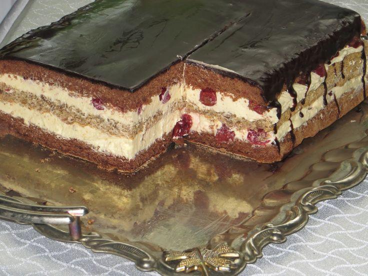 Орехово-шоколадный торт с вишней. Вкуснейший торт,ко дню рождения,готовим сами.. Обсуждение на LiveInternet - Российский Сервис Онлайн-Дневников