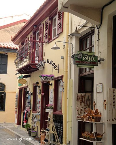 Craft shops in the old town of #Nafplio, #Peloponnese - #Greece
