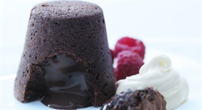 Cheat's Chocolate Fondant  Recipe by Donna Hay from Donna Hay - Fast, Fresh, Simple