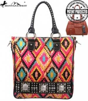 Montana West Aztec Design Concealed Handgun Handbag - Keffeler Kreations | HilltopBoutique.com - 1