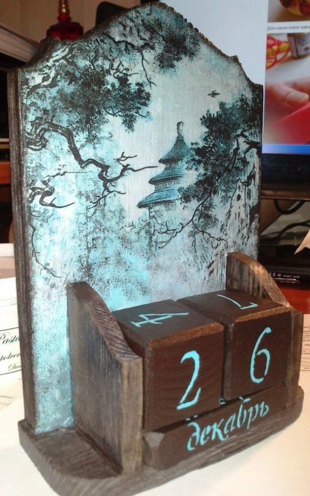 Декупаж - Сайт любителей декупажа - DCPG.RU | Всякая всячина  Click on photo to see more! Нажмите на фото чтобы увидеть больше! decoupage art craft handmade home decor DIY do it yourself calendar
