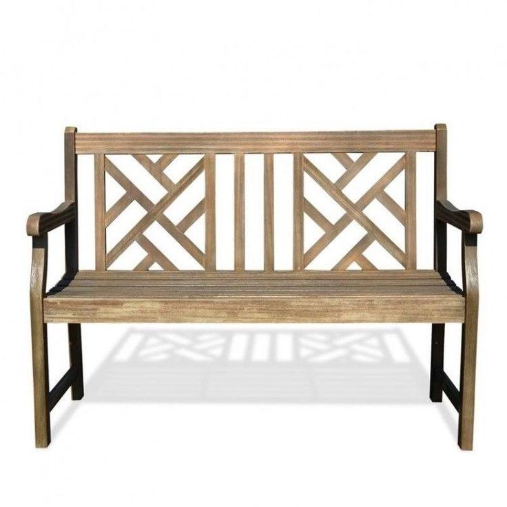 Outdoors Garden Bench Wooden Grey Patio Furniture Porch Seat Renaissance Style #OutdoorsGardenBench