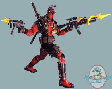 1/4th Scale Marvel Classics Ultimate Deadpool Action Figure by Neca | Man of Action Figures