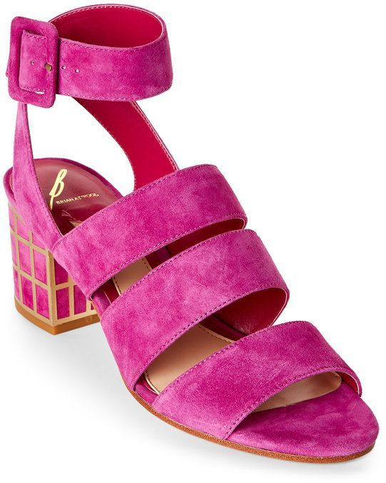B Brian Atwood Cosmo Pink Baily Caged-Heel Sandals