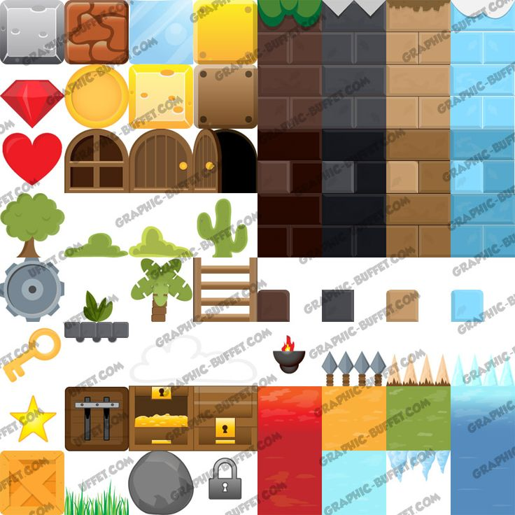 A new style of platform game graphics This cute pack contains 65 different graphics that all be used to create amazing levels for many types of games. This pack contains, background and foreground elements and has been inspired by Angry Birds, Leps World and Super Mario. The pack comes with EPS, SVG, AI, PSD, sprite [...]