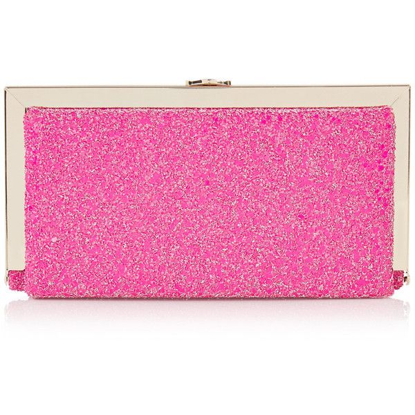 OASIS The Candy Clutch (£10) ❤ liked on Polyvore featuring bags, handbags, clutches, pink, pink metallic purse, oasis handbags, pink purse, fancy purses and metallic purse