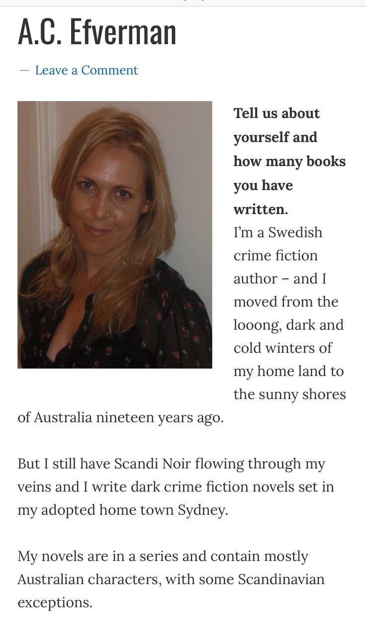 Interview with Swedish crime fiction author A.C. Efverman, by Awesome Gang (USA). #swedish #authors #usa #books #crimefiction #game #sydney #australia #böcker #deckare #läsning #reading