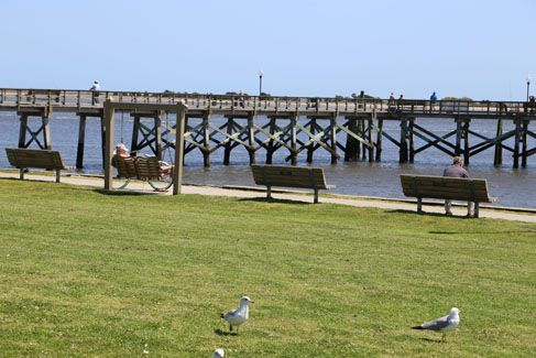 Waterfront Park overlooks the Cape Fear River in downtown Southport and has many benches, picnic tables and swings. The Southport Town Pier is also accessible from Waterfront Park.