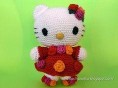 Crocheted Hello Kitty Amigurumi - Free Crochet Chart and Tutorial
