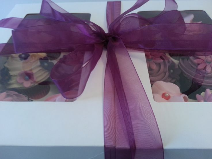 Say thank with beautiful pink and lilac cupcakes; you choose the flavours and colours to suit!
