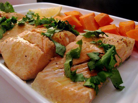 Poached Salmon in a dutch oven #recipe