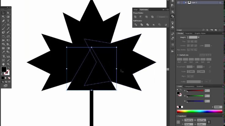 maple leaf - Adobe Illustrator tutorial. Quick and easy way how to draw ...