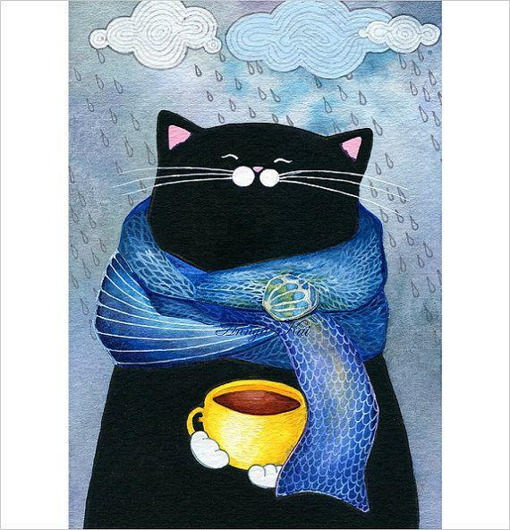 Para un día frío y lluvioso, nada como un buen café...