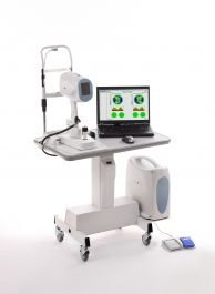 Optical Coherence Tomography Equipment for painlessly scanning tissue within the eye.