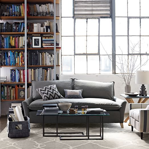Bliss Down Filled Sofa West Elm On Other Side Than No