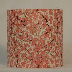 Luminaire applique murale 20 cm papier japonais motifs fleurs de cerisiers