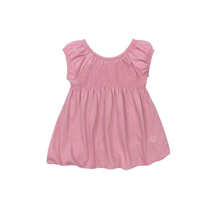 Toddler Girl Burt's Bees Baby Smocked Bubble Dress, Size: 3T, Lt Purple